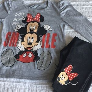 Mickey and Minnie Top and pants